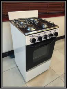 Connect new gas cooker