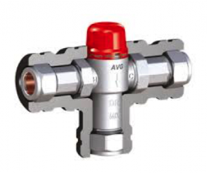 Replace hot water tempering valve